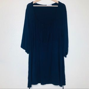 Yours Clothing Blue Pleated Tunic Top